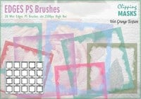 Bordures d'aquarelle Brosses PS abr.