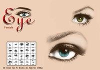 20 Female Eye Ps Brushes