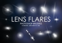 Gratis Lens Flares Photoshop Borstels