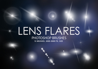 Free Lens Flares Photoshop Brushes