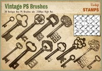 Clé antique pin brosses abr.