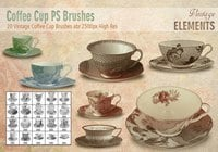 Vintage Coffee Cup Brushes abr