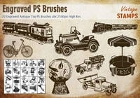 Engraved Antique Toy PS Brushes abr.