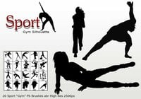 "Sport ""Gym Silhouette"" PS Borstels abr"