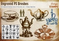Engraved Kitchen Items PS Brushes abr