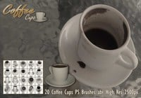 Coffee Cups PS Brushes