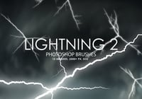 Free Lightning Photoshop Brushes 2