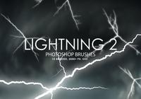 Free Lightning Photoshop Brushes 2