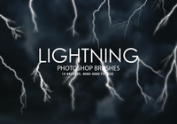 Free Lightning Photoshop Brushes