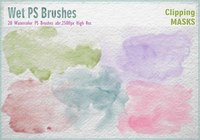 Watercolor Mask PS Brushes abr.