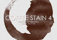 Free Coffee Stain Pinceles para Photoshop 4