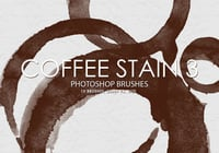 Free Coffee Stain Pinceles para Photoshop 3