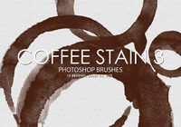 Free Coffee Stain Photoshop Brushes 3