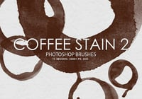 Free Coffee Stain Pinceles para Photoshop 2