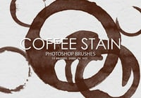 Free Coffee Stain Photoshop Brushes