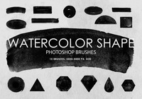 Free Watercolor Shape Pinceles para Photoshop