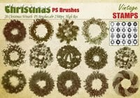 Christmas Wreath PS Brushes