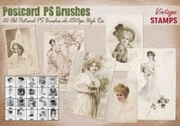 Antiguo postal PS cepillos abr.