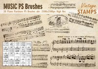 Piano Partiture PS Brushes