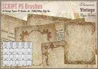 Vintage Papers PS Brushes abr.