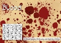 Blood Splatter PS Brushes abr