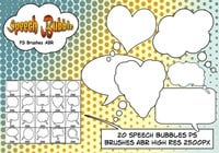 Speech Bubbles PS Pinceles abr
