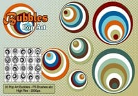 Brosses pop art bubbles ps