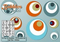 Brosses à bulles de pop art