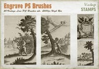 Vintage Engrave Love PS Brushes abr.