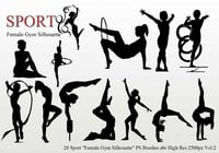 "Esporte ""Female Gym Silhouette"" PS Brushes"