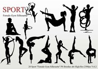 "Sport ""Female Gym Silhouette"" PS Penslar"