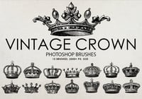 Free Vintage Crown Photoshop Brushes