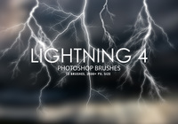 Free Lightning Pinceles para Photoshop 4