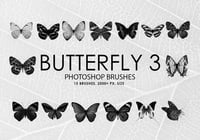 Gratis Butterfly Photoshop Borstels 3