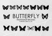 Free Butterfly Photoshop Brushes