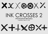 Free Ink Crosses 2 Photoshop Brushes