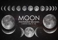 Free Moon Photoshop Brushes