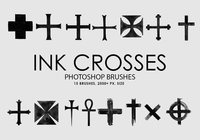 Free Ink Crosses Pinceles para Photoshop