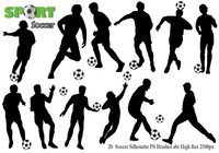 Soccer Silhouette Ps Brushes abr.