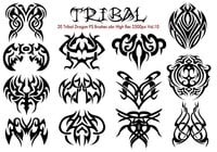 20 Tribal PS Brushes abr Vol.10