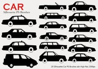 20 Car Silhouette PS-borstar