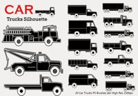 20 Car Truck Silhouette PS Borstels