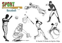 Baseball Ps Brushes abr
