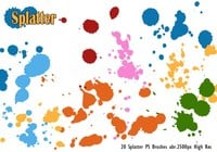 20 Splatter PS Brushes abr.vol.1