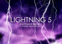 Free Lightning Pinceles para Photoshop 5