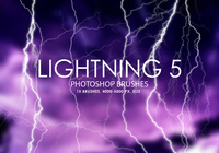 Free Lightning Photoshop Brushes 5