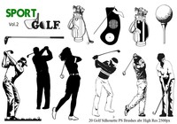 Golf Silhouette PS Pinceles abr. Vol. 2
