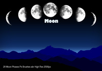 Moon Phases Ps Brushes abr