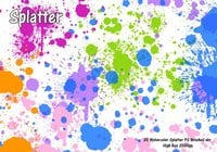 Watercolor Splatter PS escova abr