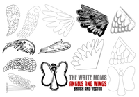 The Write Moms Angels and Wings Brushes